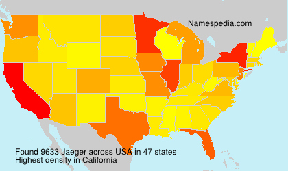 Surname Jaeger in USA