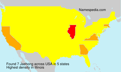 Surname Jaehong in USA