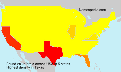 Surname Jafarnia in USA