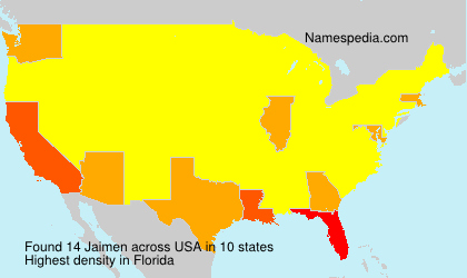 Surname Jaimen in USA