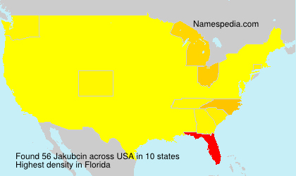 Surname Jakubcin in USA