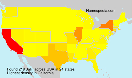 Surname Jalili in USA