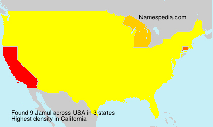 Surname Jamul in USA