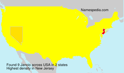 Surname Jancio in USA
