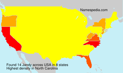 Surname Jandy in USA