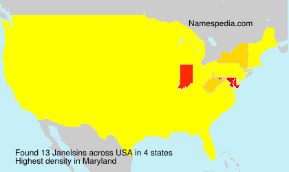 Surname Janelsins in USA