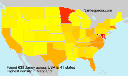Surname Janey in USA