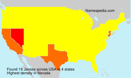 Surname Jansse in USA