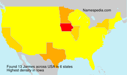 Surname Jarmes in USA