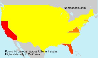 Surname Javedan in USA