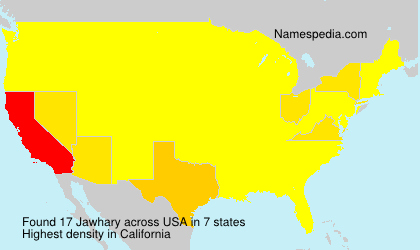 Surname Jawhary in USA