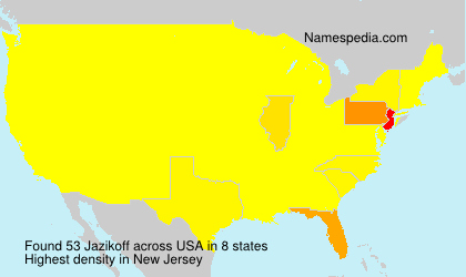 Surname Jazikoff in USA