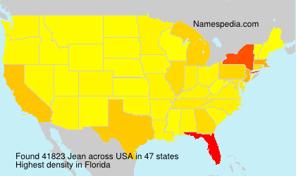 Surname Jean in USA