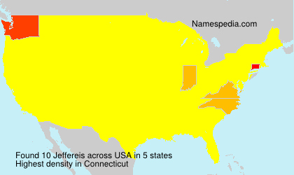 Surname Jeffereis in USA