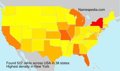 Surname Jehle in USA