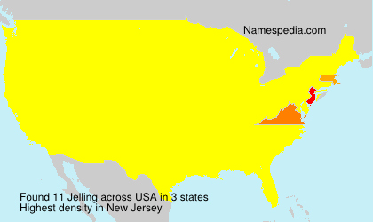 Surname Jelling in USA