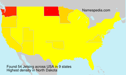 Surname Jelsing in USA