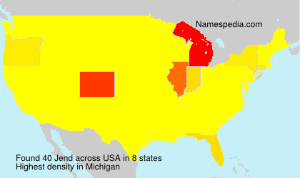 Surname Jend in USA