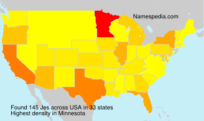 Surname Jes in USA