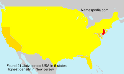 Surname Jiatz in USA
