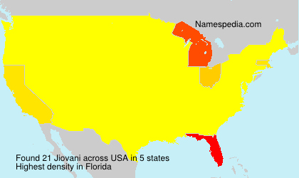 Surname Jiovani in USA