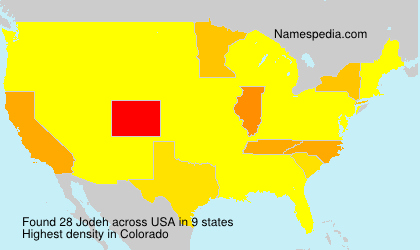 Surname Jodeh in USA
