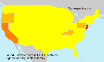 Surname Joisher in USA