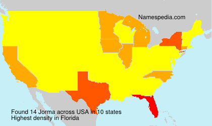 Surname Jorma in USA