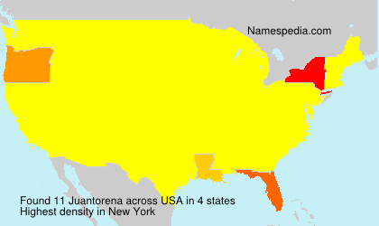 Surname Juantorena in USA