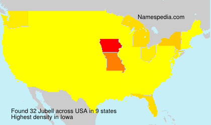Surname Jubell in USA