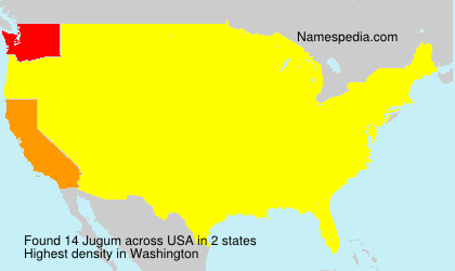 Surname Jugum in USA