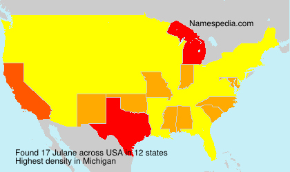 Surname Julane in USA
