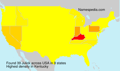 Surname Julick in USA
