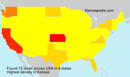 Surname Junet in USA