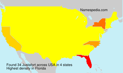 Surname Justafort in USA