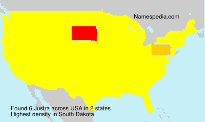 Surname Justra in USA