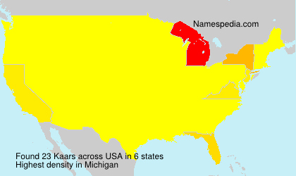 Surname Kaars in USA