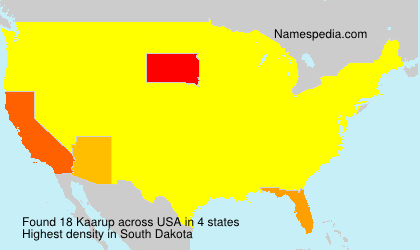 Surname Kaarup in USA