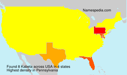 Surname Kabeta in USA