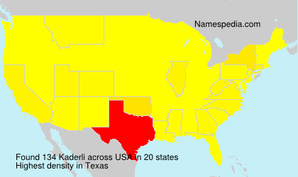 Surname Kaderli in USA