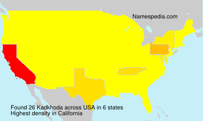 Surname Kadkhoda in USA