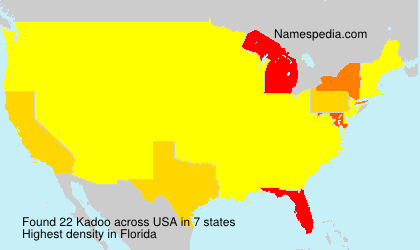 Surname Kadoo in USA