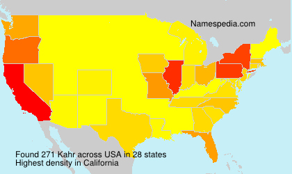 Surname Kahr in USA