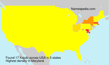 Surname Kajubi in USA