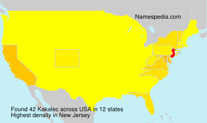 Surname Kakalec in USA