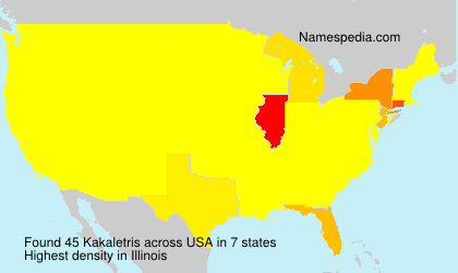 Surname Kakaletris in USA