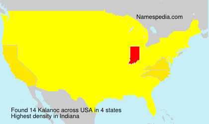 Surname Kalanoc in USA