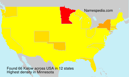 Surname Kalow in USA
