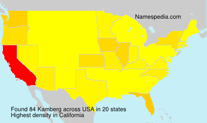 Surname Kamberg in USA