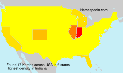Surname Kambs in USA
